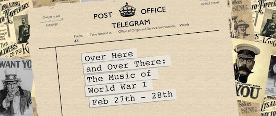 Over Here and Over There: Music of WW1 conference